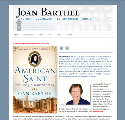 joanbarthel.com new home page