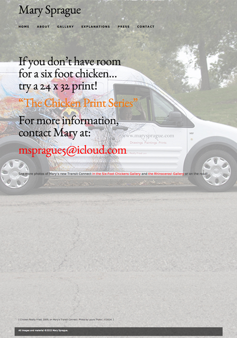 Mary's Transit Connect homepage